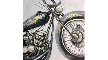 "Картина маслом "" Мотоцикл - 2 """