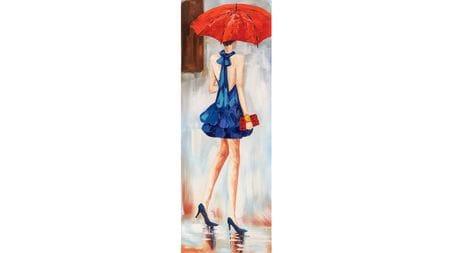 Картина маслом Красный зонт