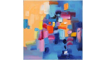 Картина разноцветная абстракция