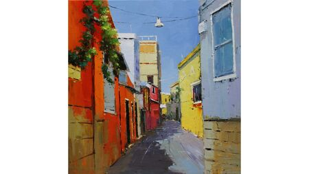 Картина улица в Италии