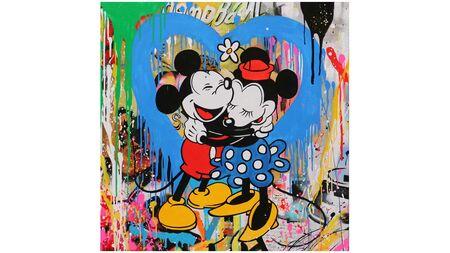 Картина на холсте Микки и Мини маус