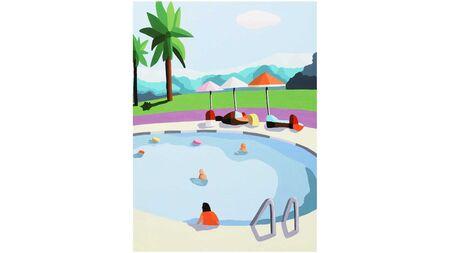 Картина на стену Отдых у бассейна