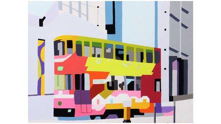 Картина на стену Сказочный трамвай