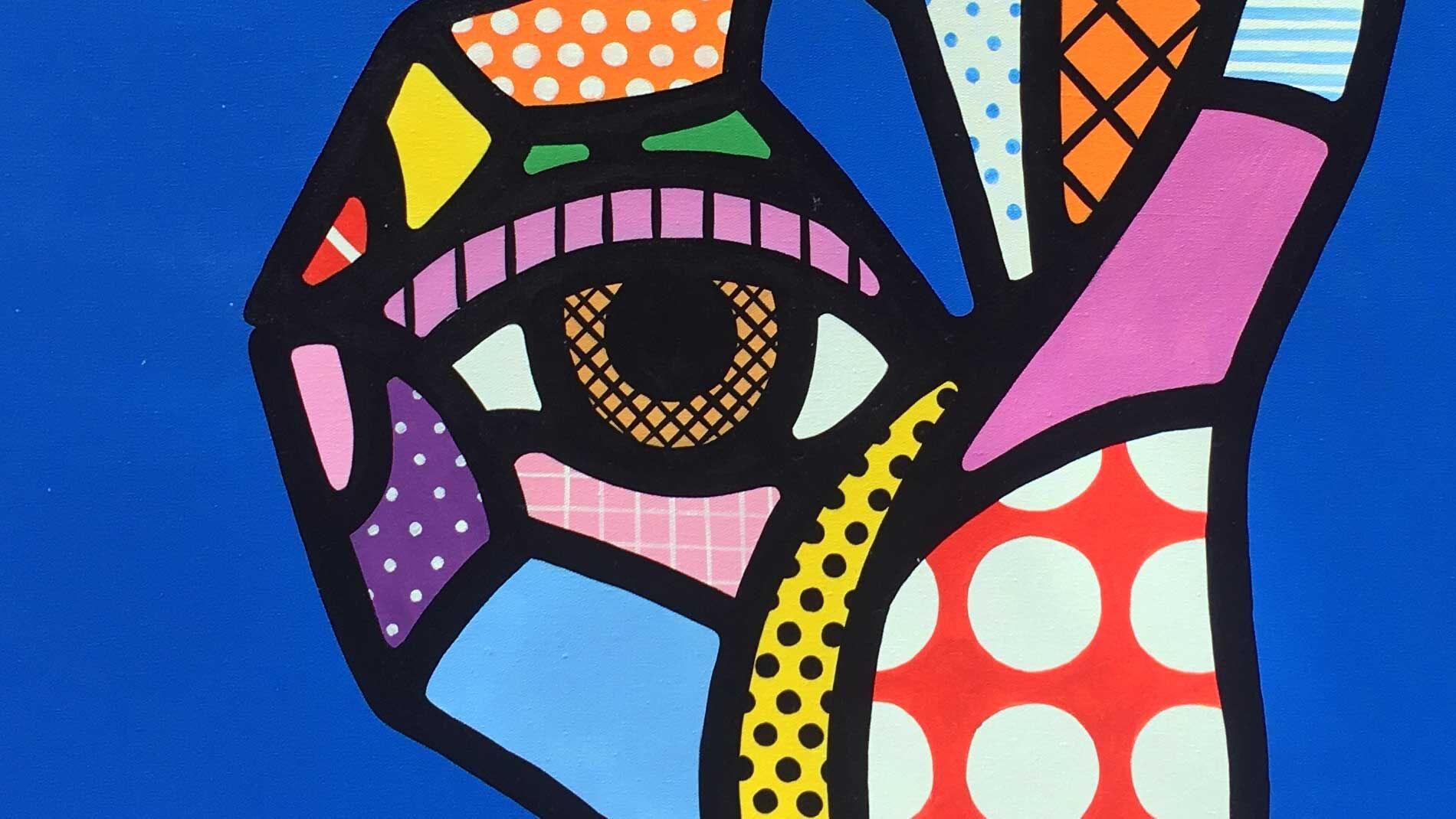 Картина на холсте рука хиппи - 2